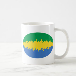 Gabon Gnarly Flag Mug