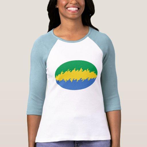 Gabon Gnarly Flag T-Shirt