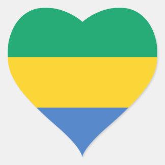 gabon heart sticker