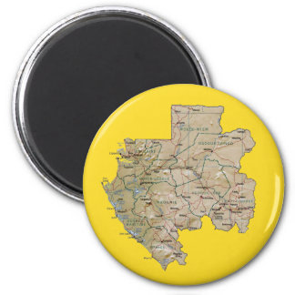 Gabon Map Magnet
