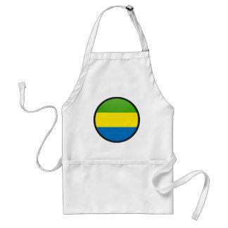 Gabon quality Flag Circle Adult Apron