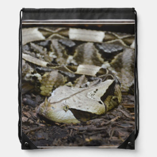 Gabon Viper Drawstring Bag