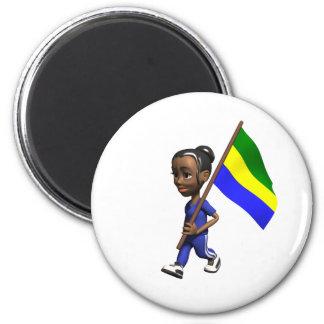 Gabonese Girl Fridge Magnets