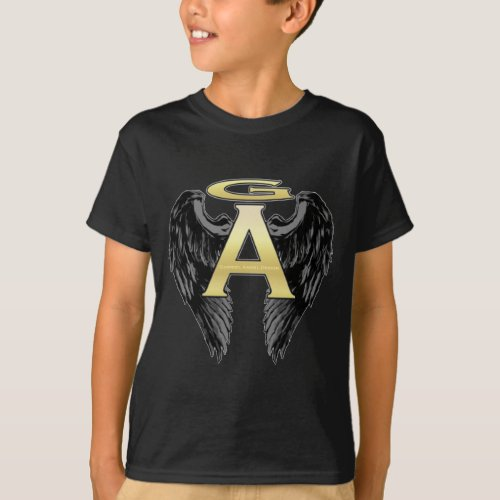 Gabriel Angel Design Wings Logo T_Shirt