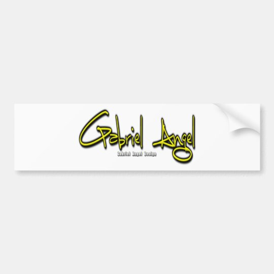 Gabriel Angel Logo Bumper Sticker
