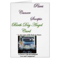 Gabriel Archangel of Pisces, Cancer, Scorpio Greeting Card