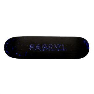 gabriel blue lightning laser star custom skateboar skateboard deck