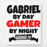 Gabriel by Day Gamer by Night Mouse Pad