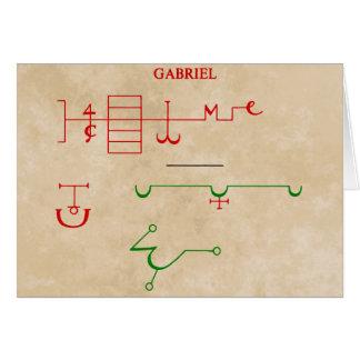 GABRIEL GREETING CARD