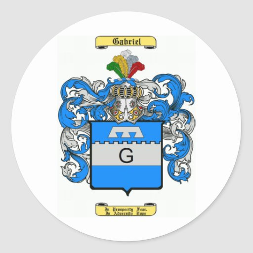 gabriel classic round sticker