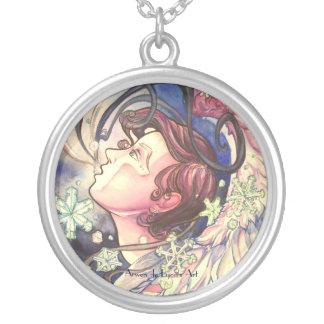 Gabriel Closeup Round Pendant Necklace