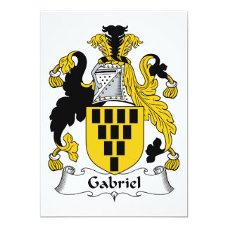 Gabriel Family Crest Card