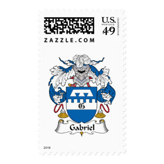 Gabriel Family Crest Postage Stamps