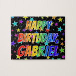 "[ Thumbnail: ""Gabriel"" First Name, Fun ""Happy Birthday"" Jigsaw Puzzle ]"