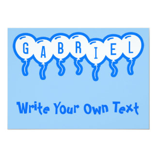 """Gabriel Invitación 5"""" X 7"""""""