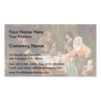 Gabriel Metsu- The Feast of the Bean King Business Cards