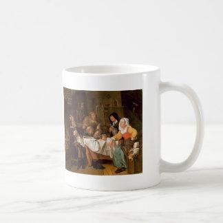 Gabriel Metsu- The Feast of the Bean King Mugs