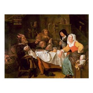 Gabriel Metsu- The Feast of the Bean King Postcard
