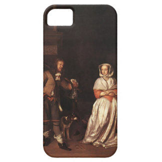 Gabriel Metsu- The Huntsman and the Lady iPhone 5 Case