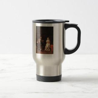Gabriel Metsu- The Huntsman and the Lady Mug