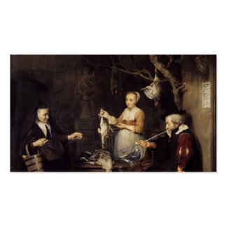 Gabriel Metsu- The Poultry Woman Business Card Templates