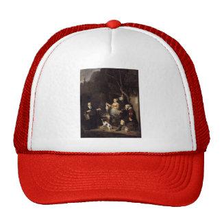 Gabriel Metsu- The Poultry Woman Mesh Hats
