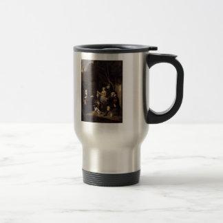 Gabriel Metsu- The Poultry Woman Coffee Mug