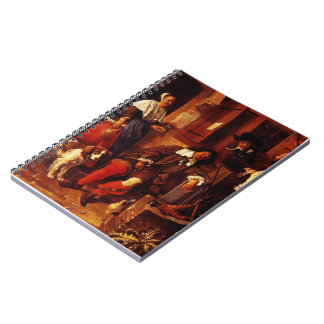 Gabriel Metsu- The Sleeping Sportsman Notebook