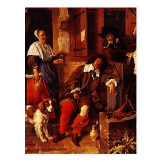 Gabriel Metsu- The Sleeping Sportsman Postcards