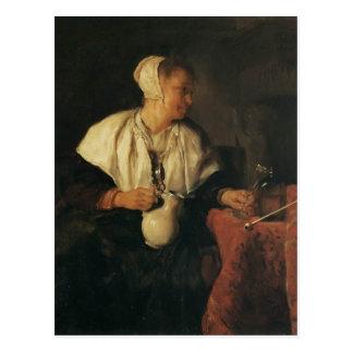 Gabriel Metsu- The Tippler (The Wine Drinker) Postcard