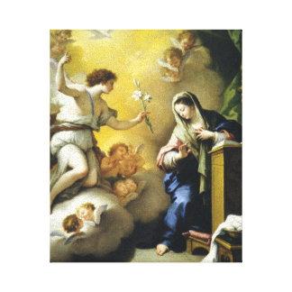 Gabriel predice el nacimiento de Jesús Impresión En Lona