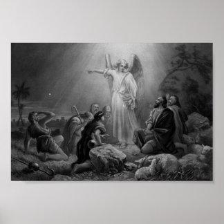 Gabriel que anuncia el nacimiento de Jesús Póster