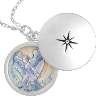 Gabriel Round Locket Necklace