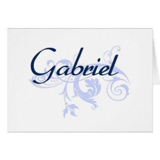 Gabriel Tarjeta De Felicitación