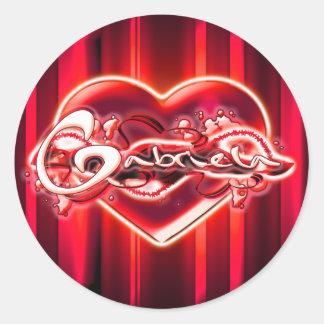 Gabriela Classic Round Sticker