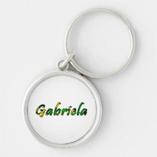 Gabriela Round Premium Keychain