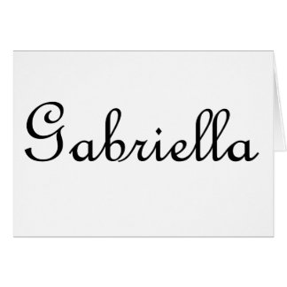 Gabriela Tarjeta De Felicitación
