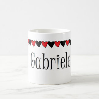 Gabriele Hearts Name Mugs
