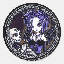 gothic, angel, skull, blue, myka, jelina, art, fantasy, gabriella, fairy, faerie, fae, faery, fairies, Adesivo com design gráfico personalizado