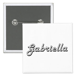 Gabriella Classic Retro Name Design 2 Inch Square Button