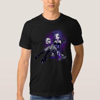 """Gabriella"" Gothic Blue Purple Angel Skull Art Top Shirts"
