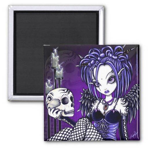 """""""Gabriella"""" Gothic Skull Angel Magnet"""