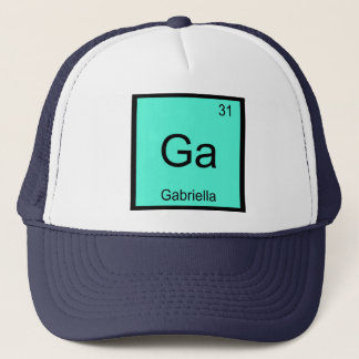 Gabriella  Name Chemistry Element Periodic Table Trucker Hat