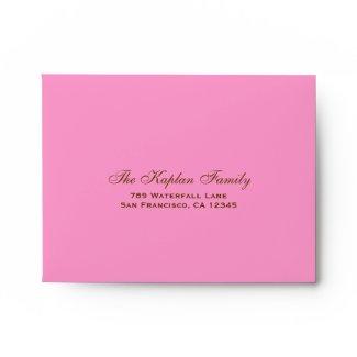 Gabriella Pink Blossoms Bat Mitzvah RSVP Envelope
