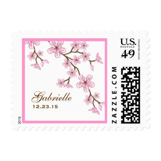 Gabriella Pink Blossoms Postage Stamp