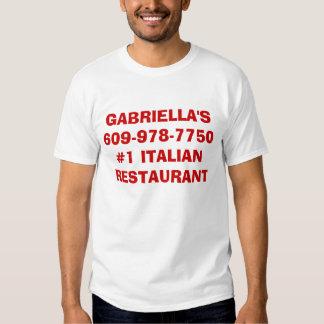 GABRIELLA'S609-978-7750#1 ITALIAN RESTAURANT  TEE SHIRT