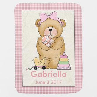 Gabriella's Personalized Baby Bear Blanket