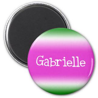 Gabrielle 2 Inch Round Magnet
