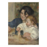 Gabrielle and Jean by Pierre-Auguste Renoir Personalized Invitation