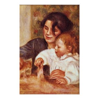 Gabrielle and Jean by Pierre Renoir Posters